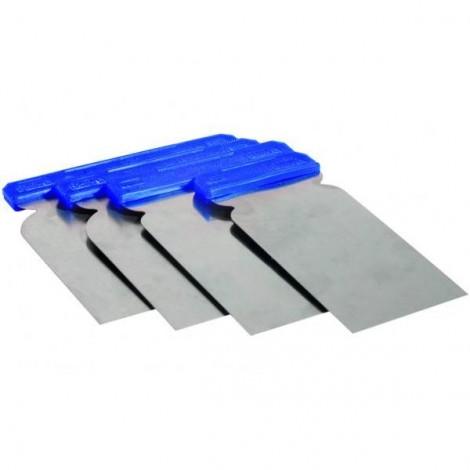 Шпакла метална за кит -  комплект - 4