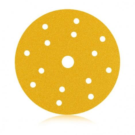 Smirdex Жълти дискове Velcro - Ф150 с 15 отвора