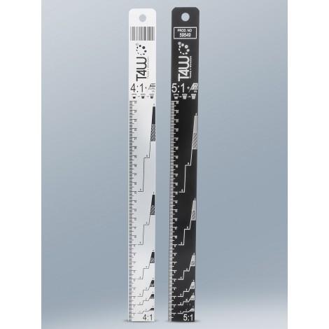 T4W Алуминиева линия paint mixing stick ruler 4:1/5:1