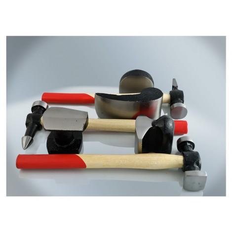 T4W Tinman's set 7pcs. set / wooden handle